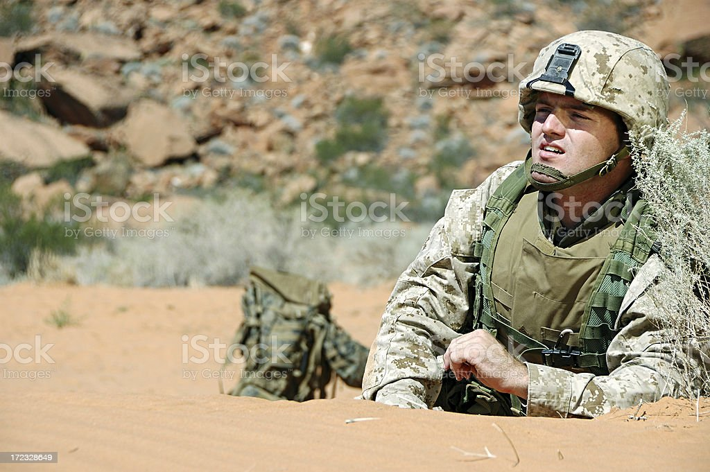 Soldier with Gear royalty-free stock photo