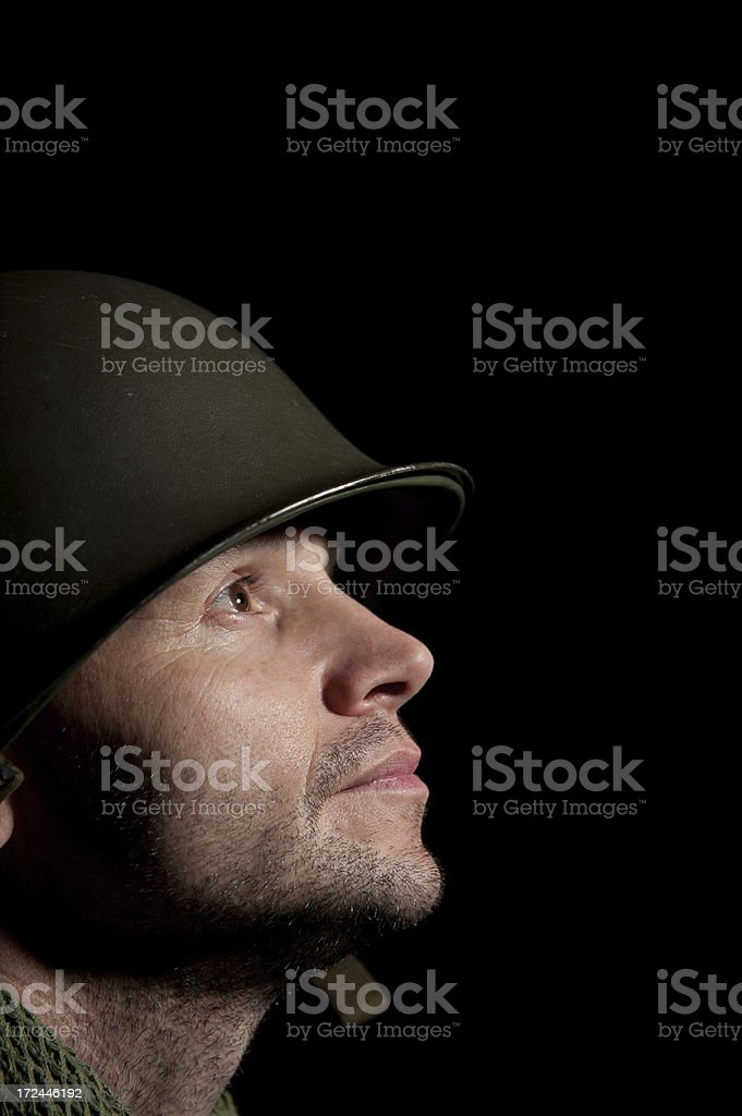 Soldier With PTSD royalty-free stock photo