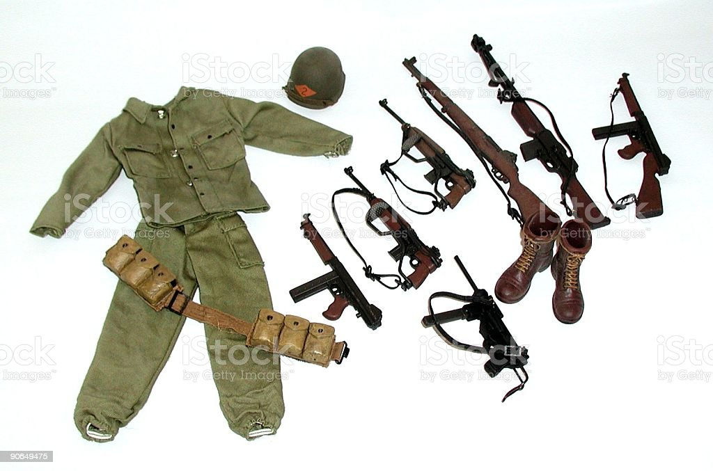Soldier's Accessories stock photo