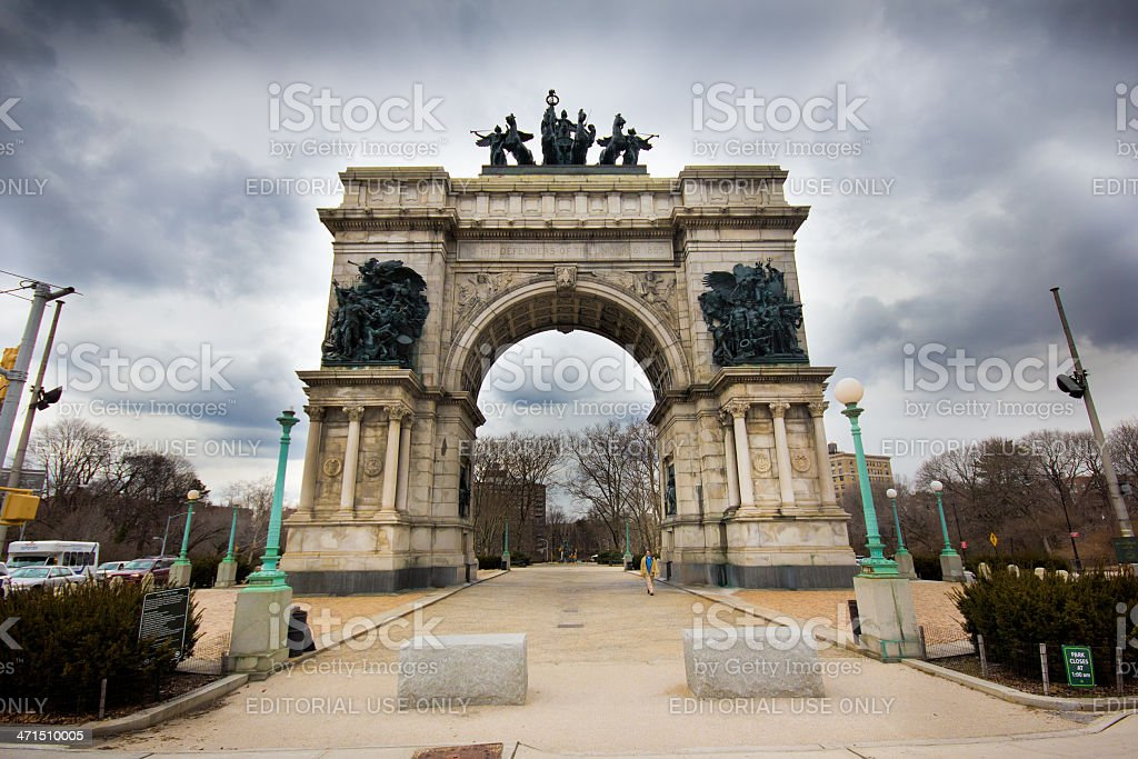 Soldiers and Sailors Arch Brooklyn stock photo