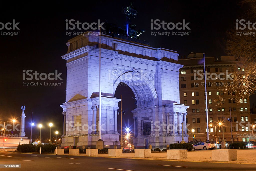 Soldiers and Sailors Arch Grand Army Plaza stock photo