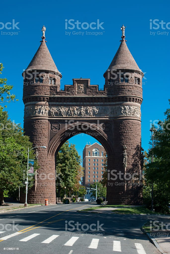 Soldiers and Sailors Memorial Arch Hartford CT stock photo