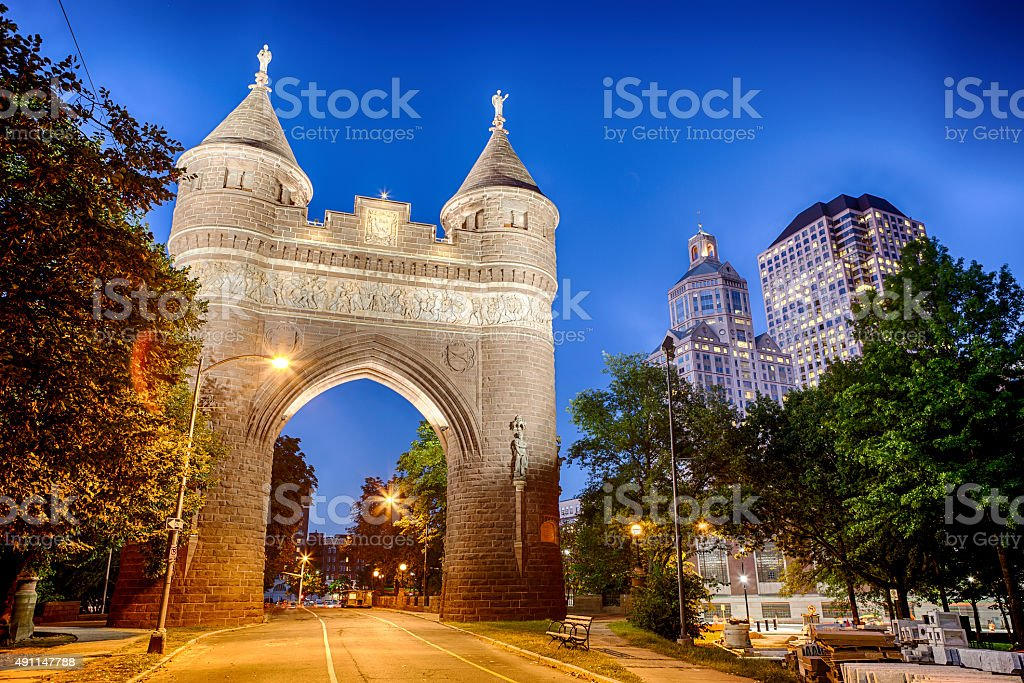 Soldiers And Sailors Memorial Arch In Hartford, Connecticut stock photo