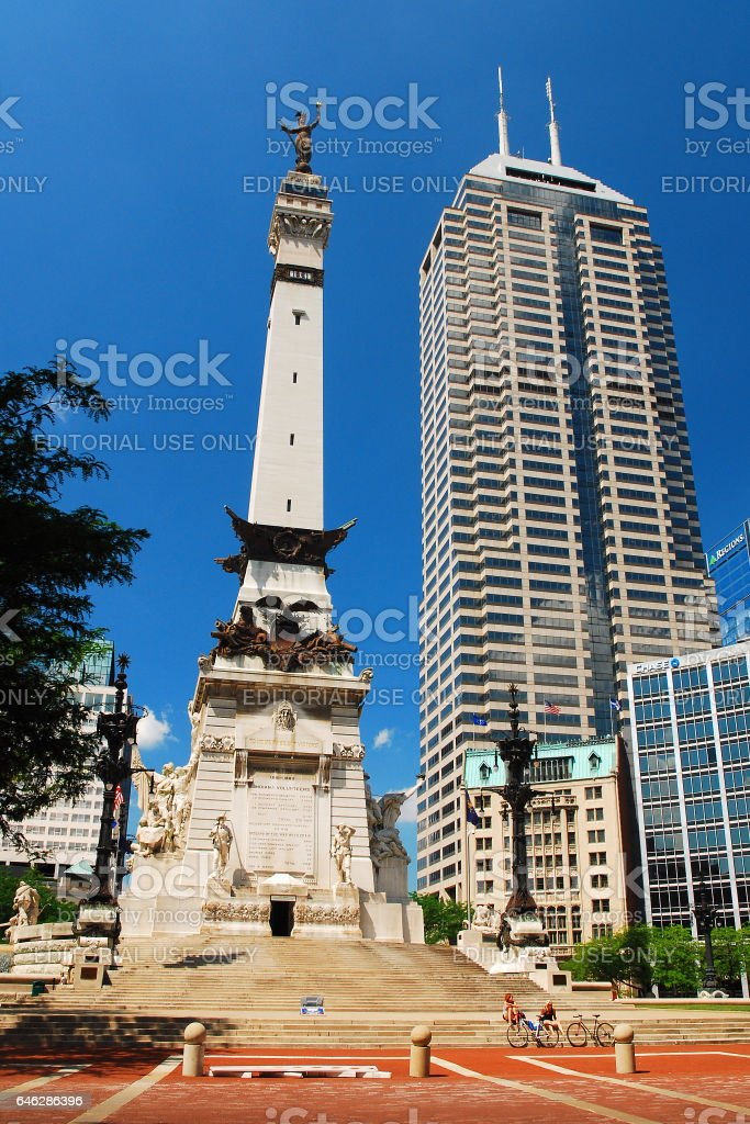 Soldiers and Sailors Memorial, Indianapolis stock photo