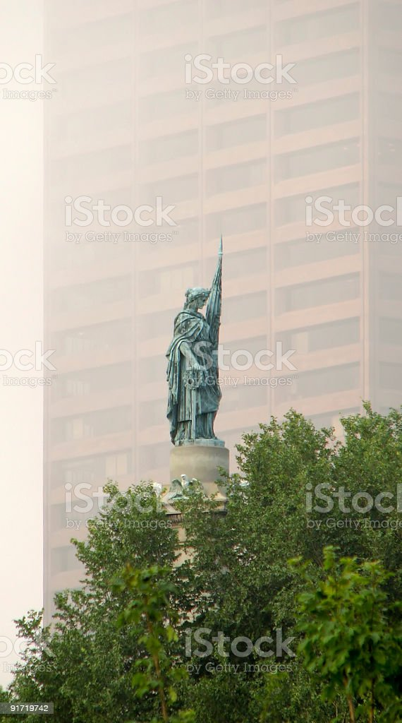 Soldiers and Sailors Monument, Boston Common stock photo