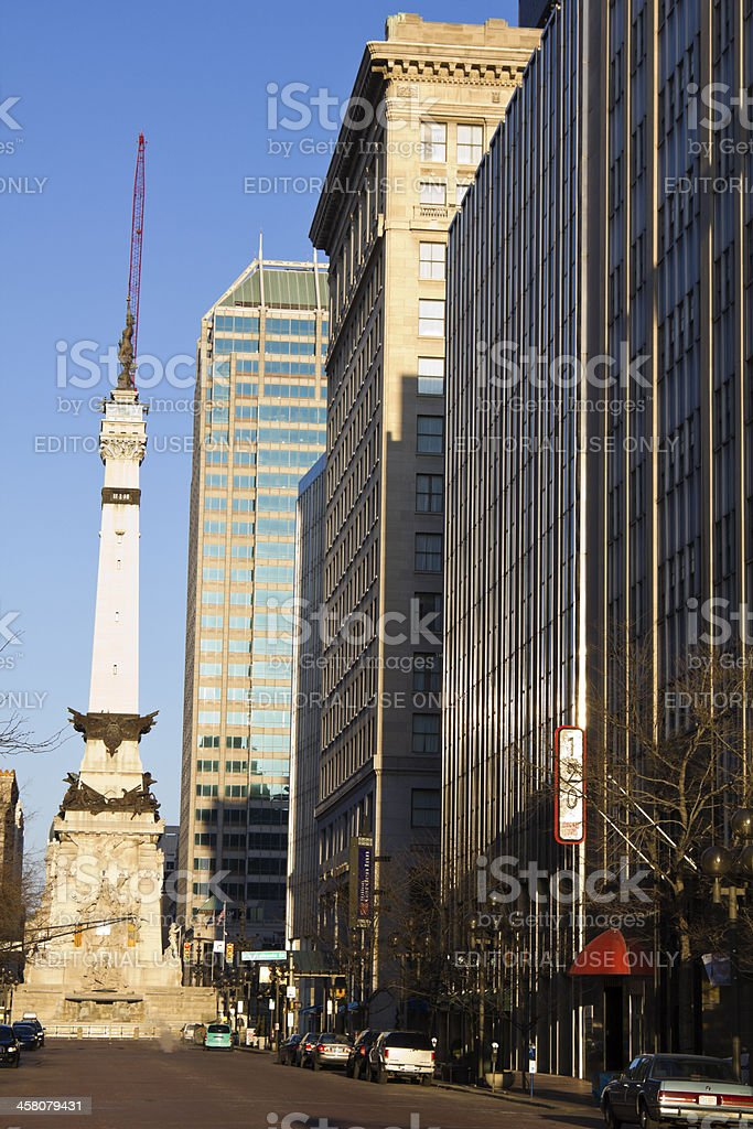 Soldiers and Sailors Monument stock photo