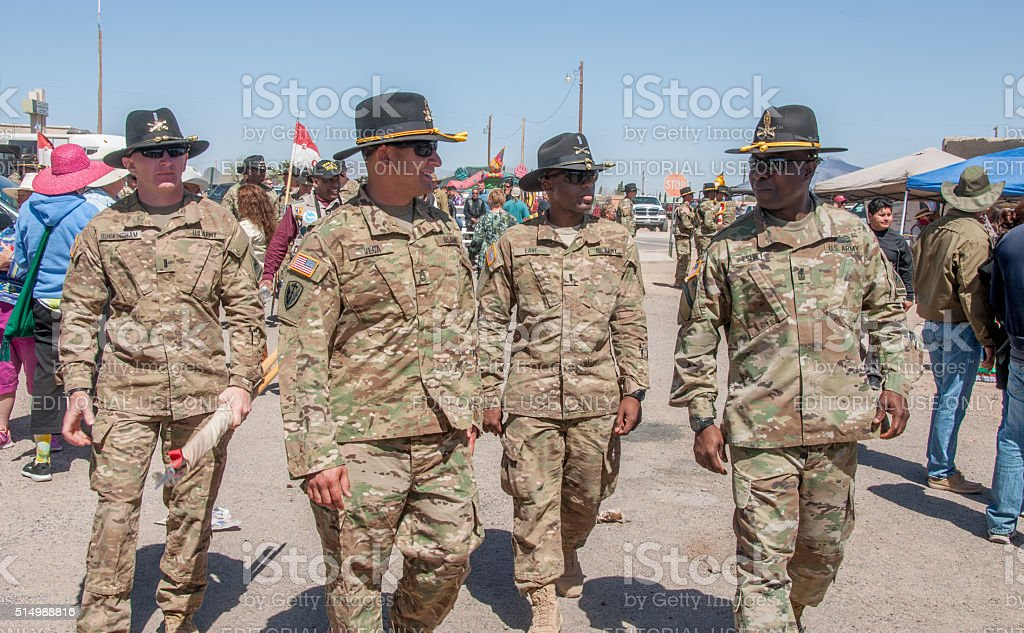 Soldiers at Pancho Villa Event stock photo