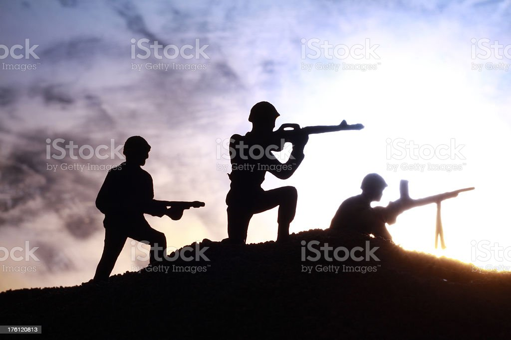 Soldiers at Sunset royalty-free stock photo