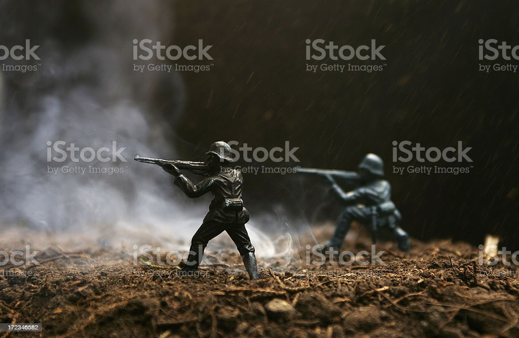 Soldiers at War royalty-free stock photo