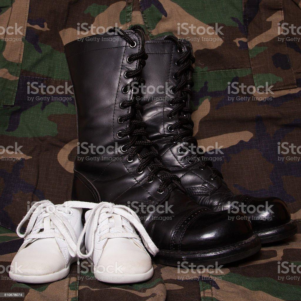 Soldier's Child stock photo
