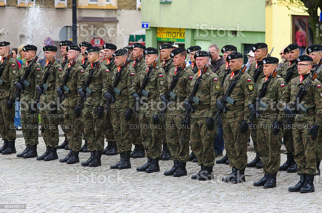 Soldiers during Independence Day stock photo