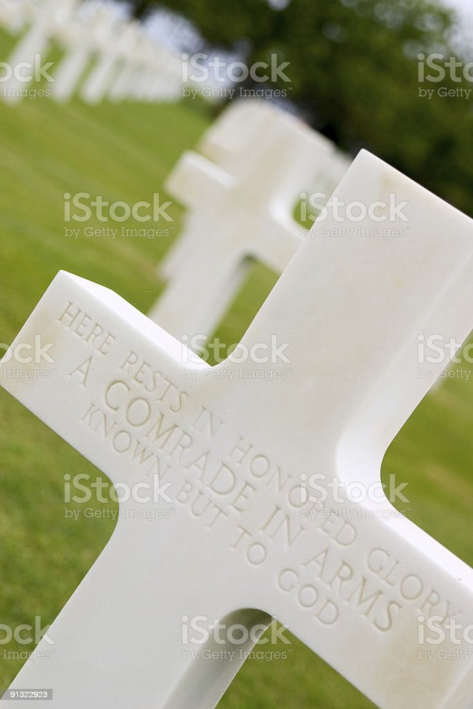 Soldiers Graves royalty-free stock photo