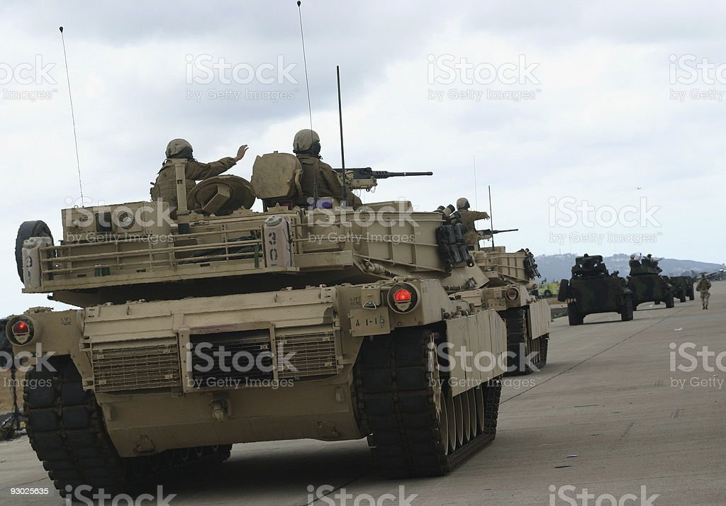 Soldiers Homecoming stock photo