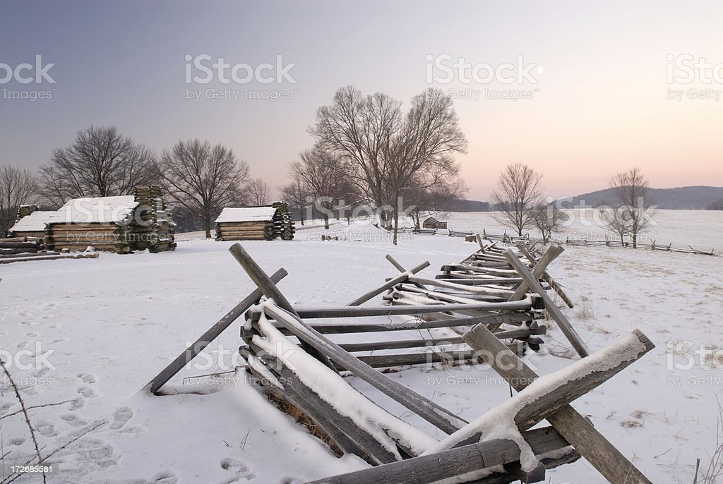 Soldier's Hub in Winter stock photo