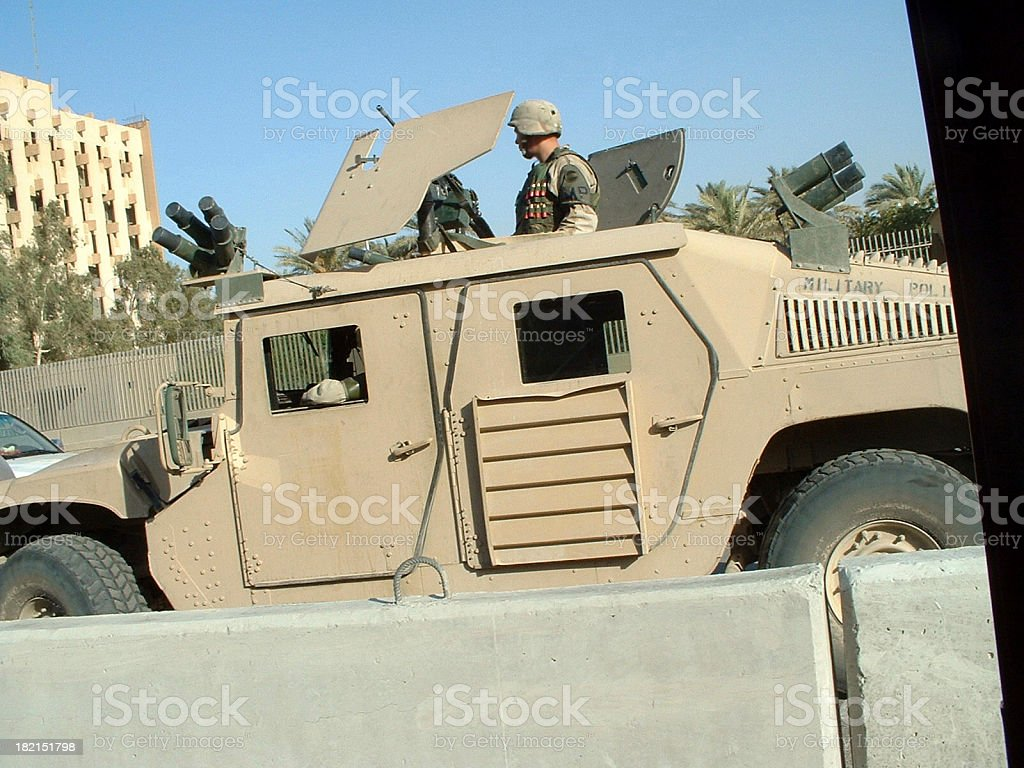US Soldiers in Baghdad I Authentic Iraq War Photo stock photo