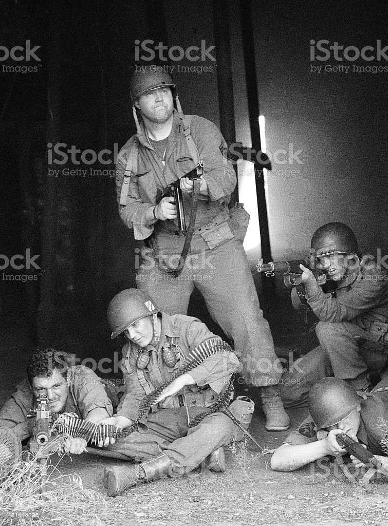 Soldiers In Combat stock photo