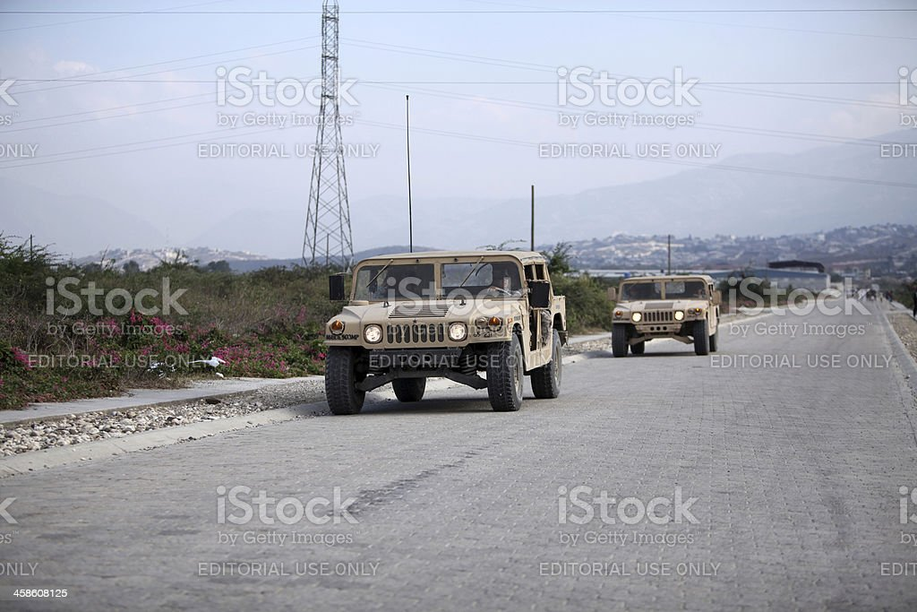 US Soldiers in Haiti royalty-free stock photo