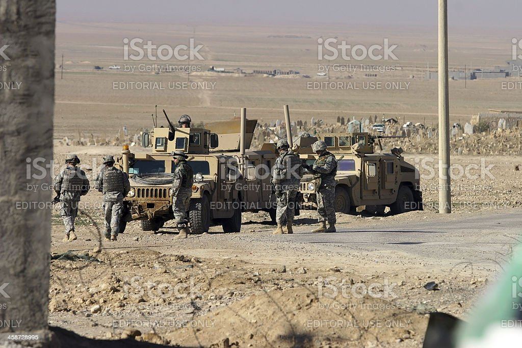 US Soldiers in Iraq royalty-free stock photo