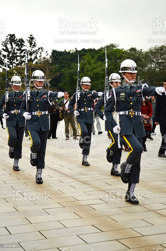 Soldiers in Taiwan royalty-free stock photo
