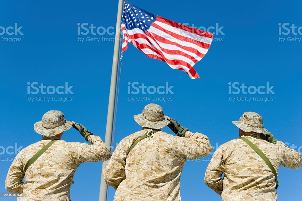 Soldiers in the Field stock photo