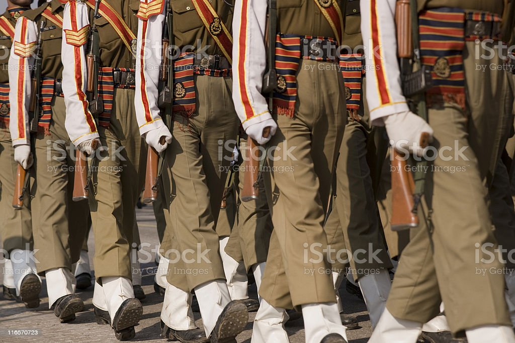 Soldiers Marching royalty-free stock photo