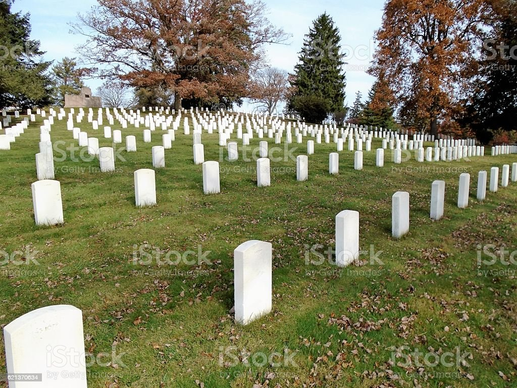 Soldiers National Cemetery stock photo
