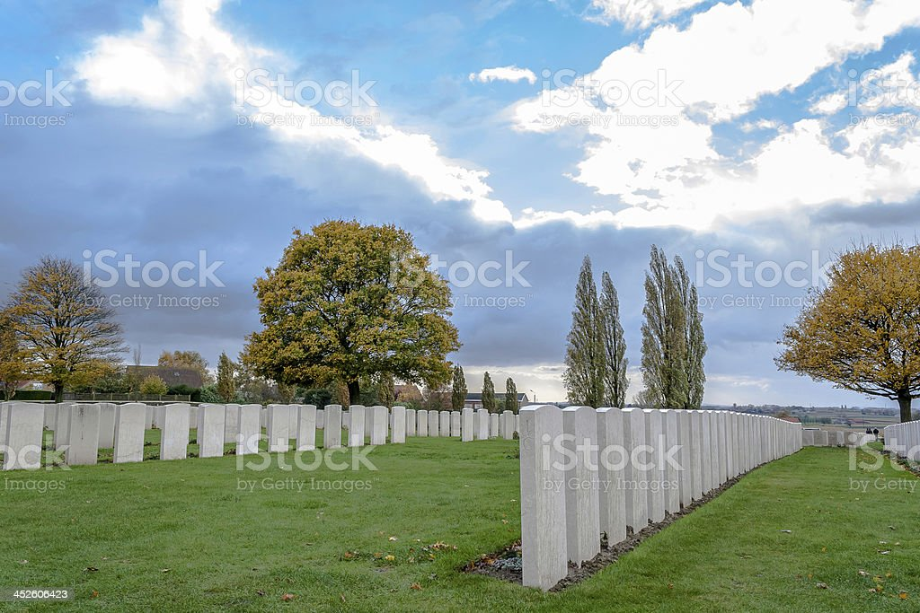 Soldiers of the great war cemetery flanders Belgium stock photo