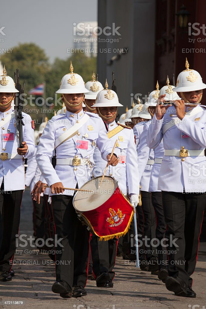 Soldiers on parade stock photo