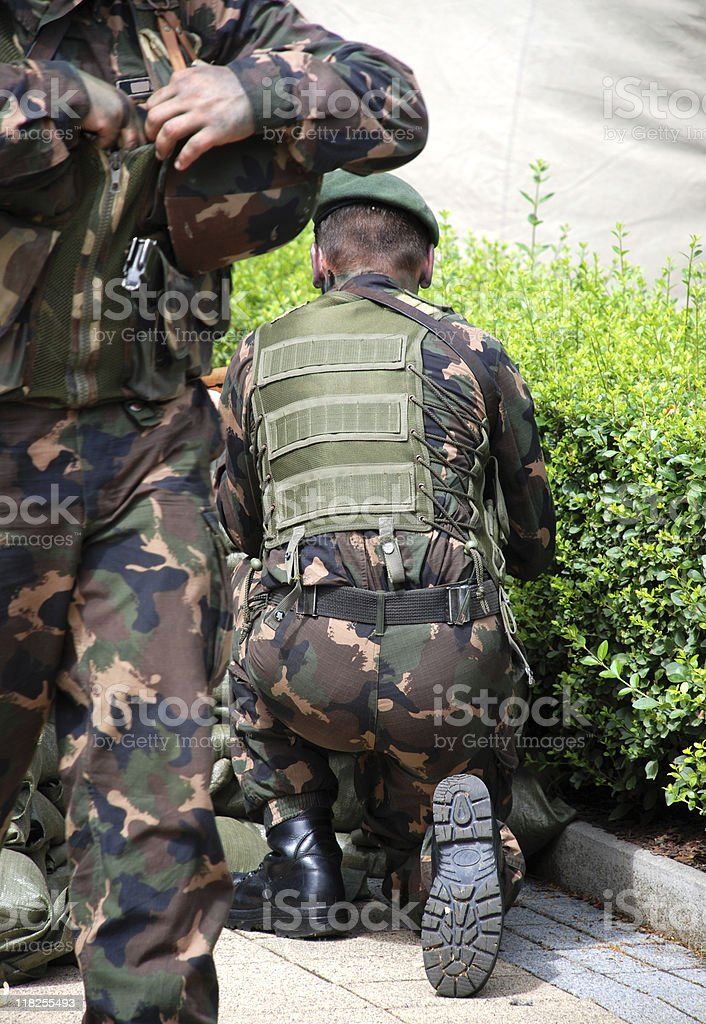 soldiers stock photo