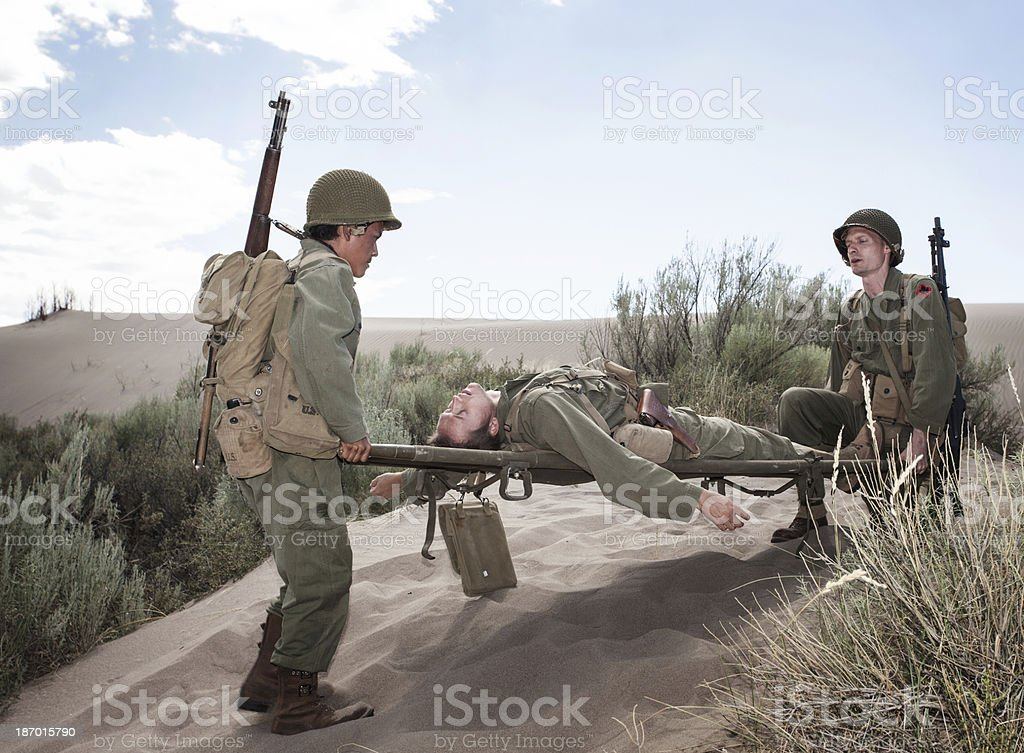WWII Soldiers royalty-free stock photo