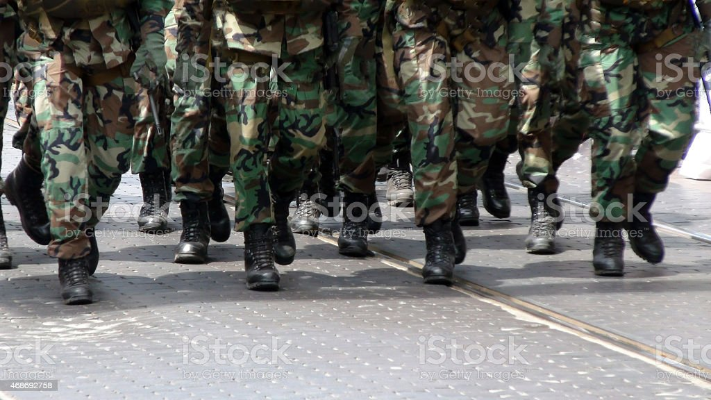 Soldiers Preparation stock photo