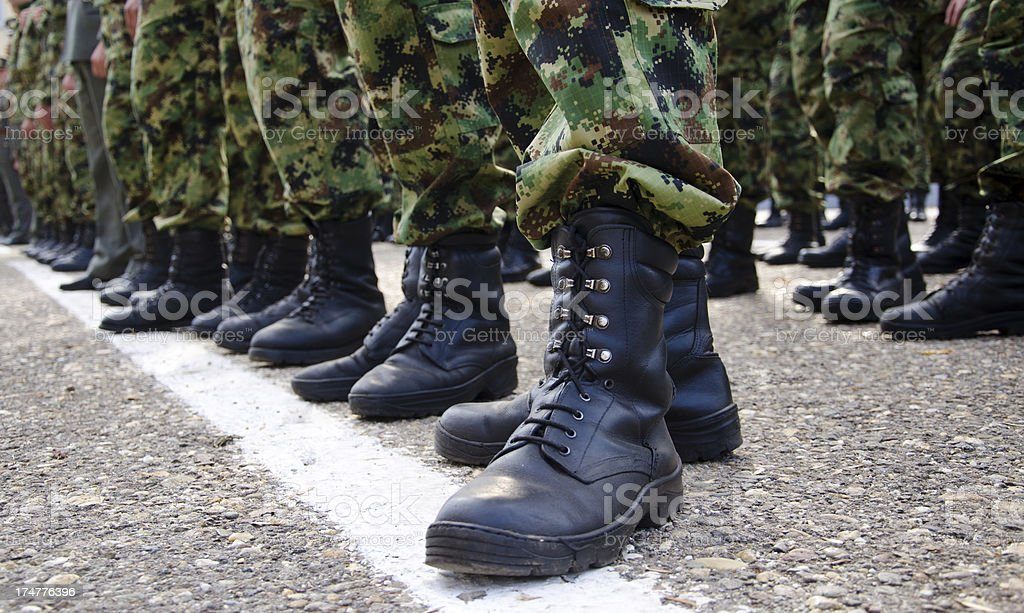 Soldiers - Rank and File stock photo