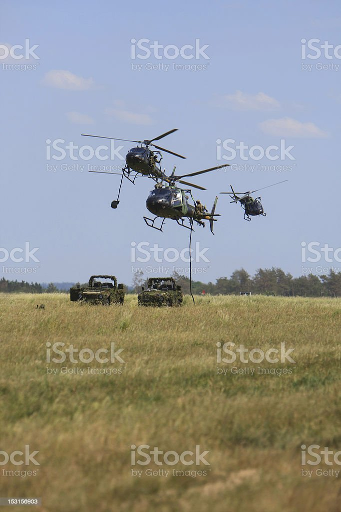 Soldiers rappeling royalty-free stock photo