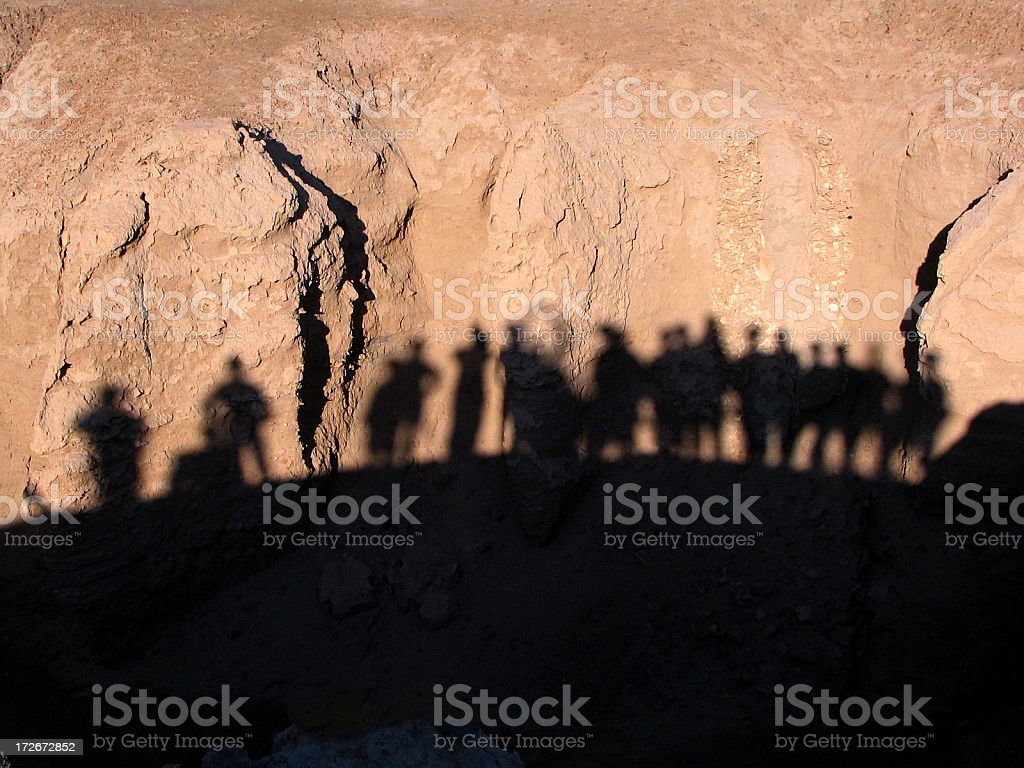 Soldiers Silhouetted stock photo