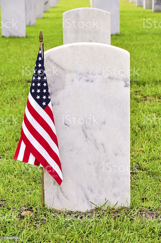 soldiers tombstones on a national cemetery royalty-free stock photo