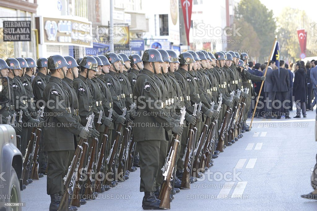 Soldiers with their rifles royalty-free stock photo