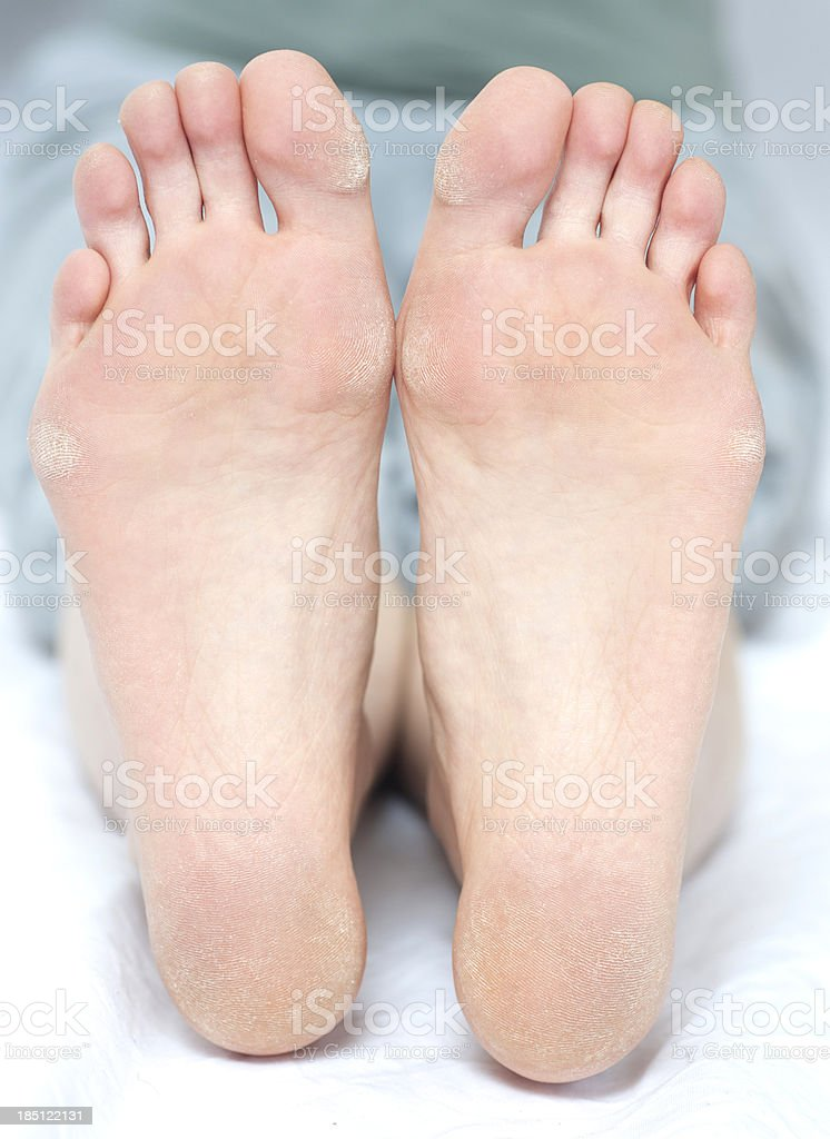 sole of foot - barfoot barfuß stock photo