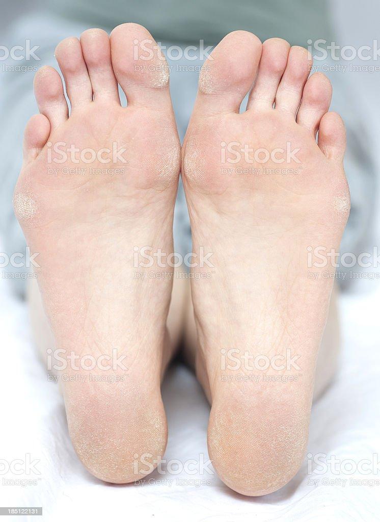 sole of foot - barfoot barfuß stock photo
