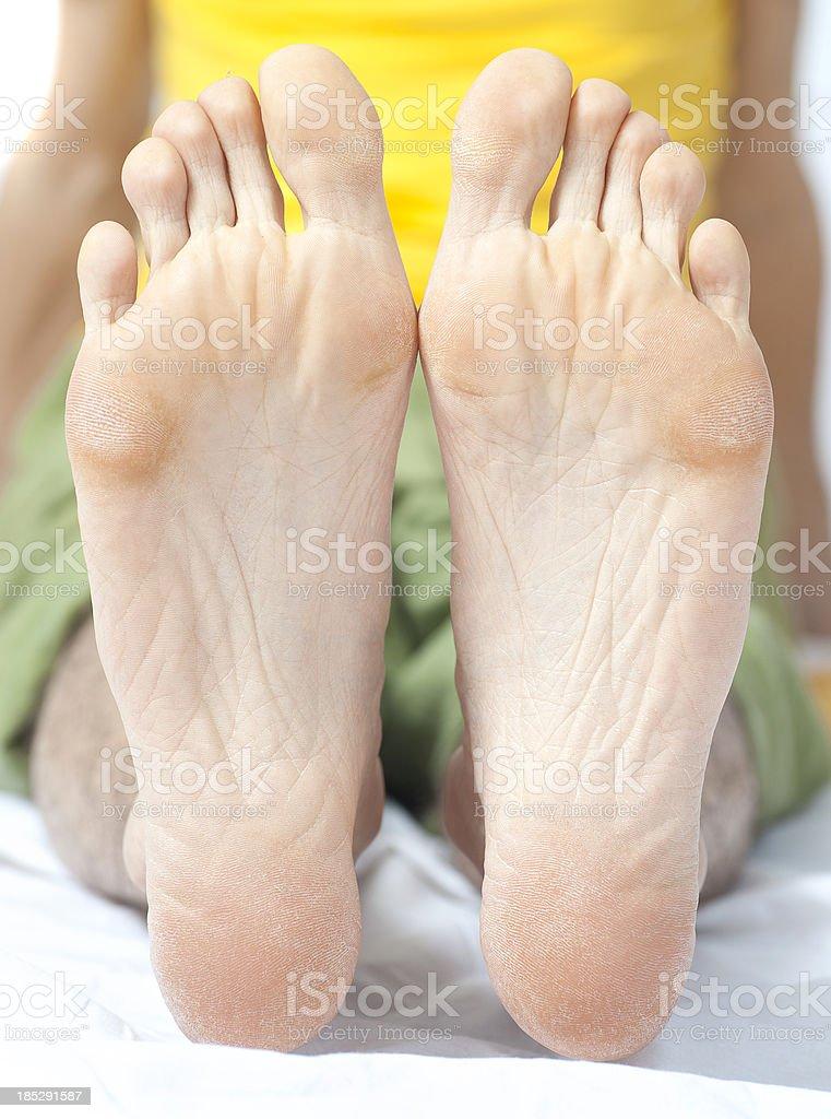 sole of foot - barfuß Fußsohlen stock photo