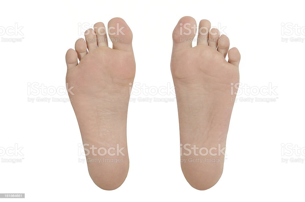 sole of foot pair stock photo