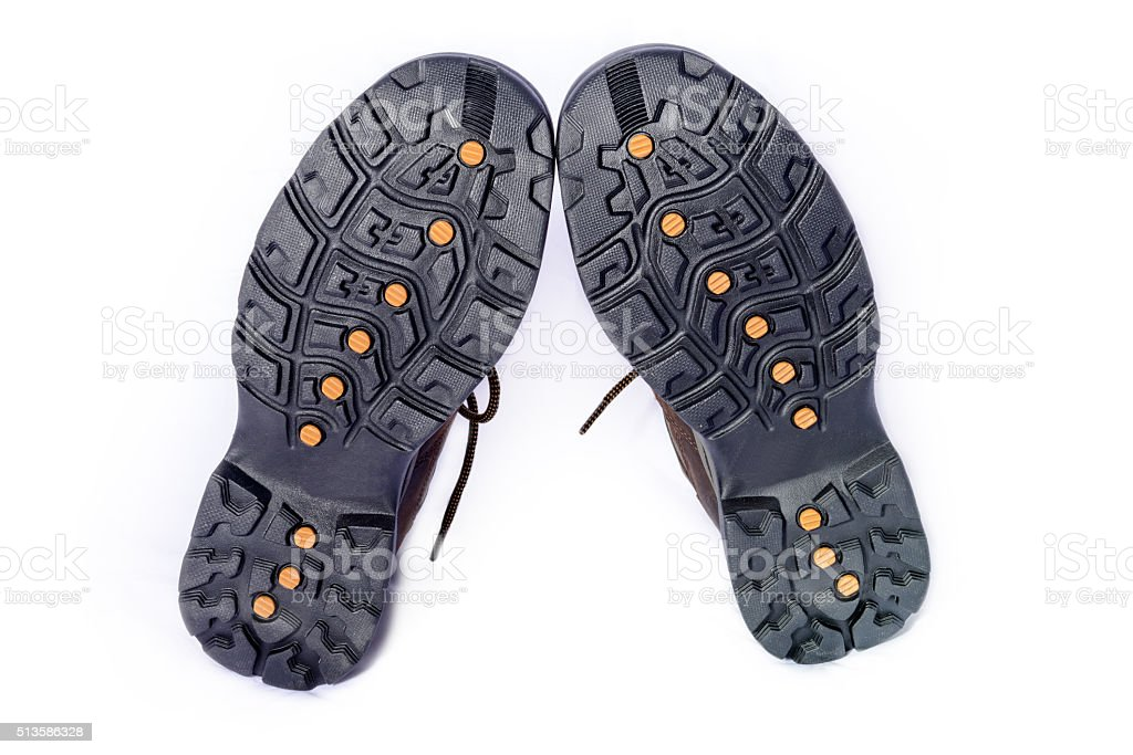Soled Hiking Boots stock photo