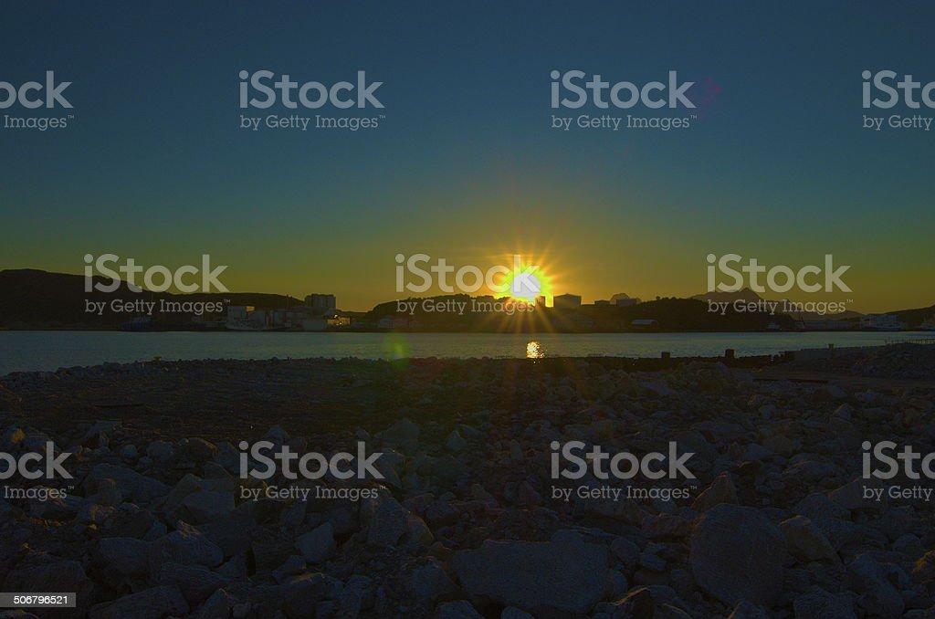 Soleil de minuit stock photo