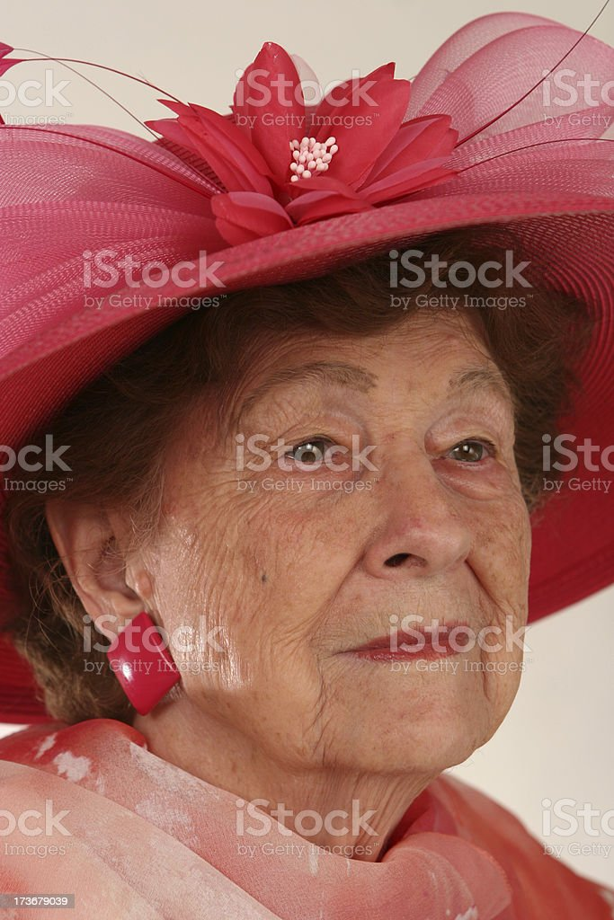 Solemn lady royalty-free stock photo