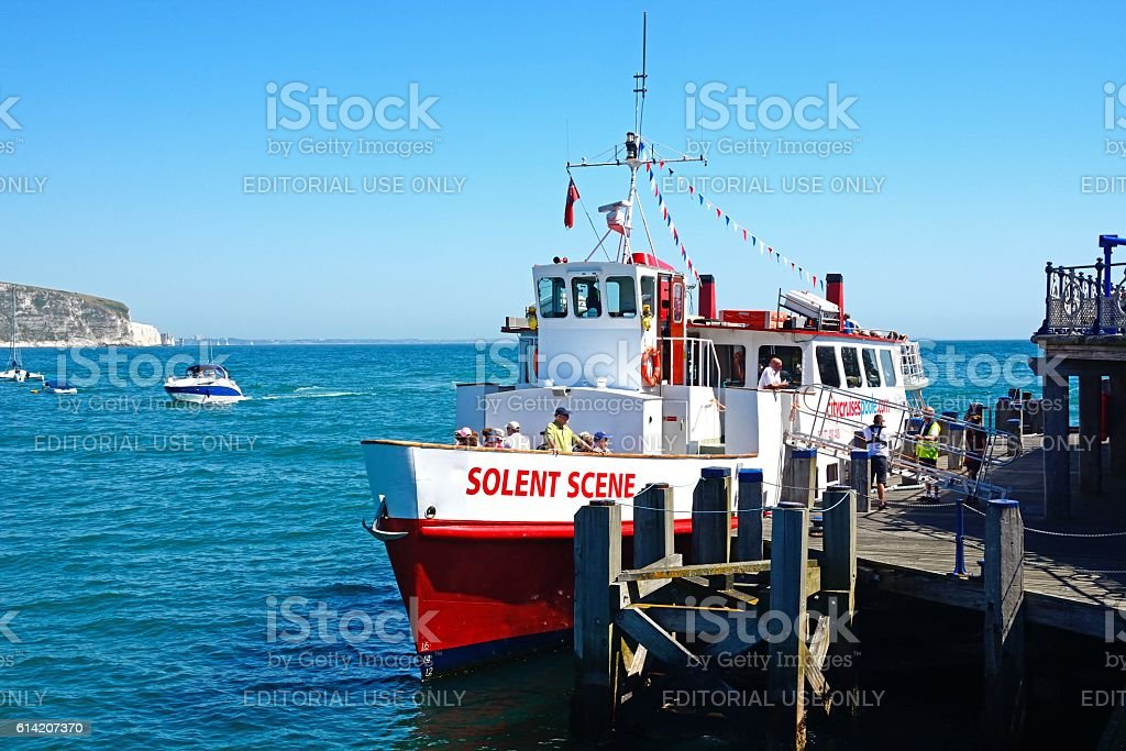 Solent Scene ship, Swanage. stock photo