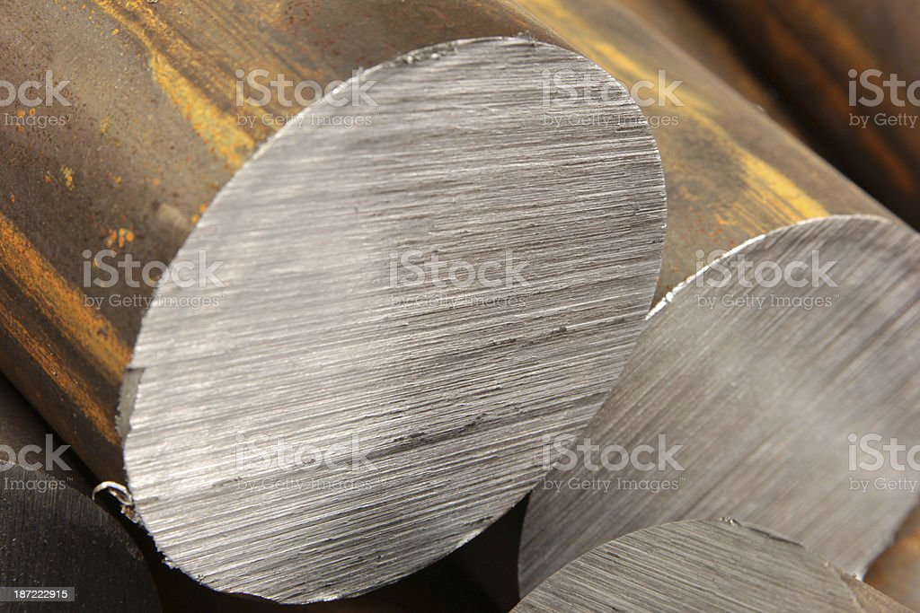 Solid aluminum tubes royalty-free stock photo
