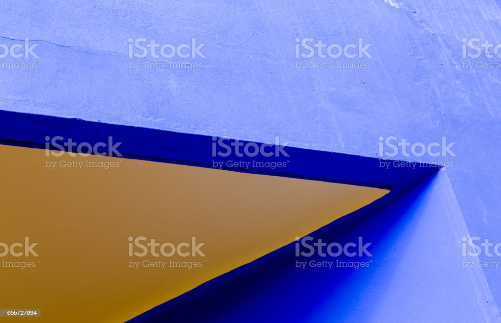 Solid bold blue and orange abstract backgrounds stock photo