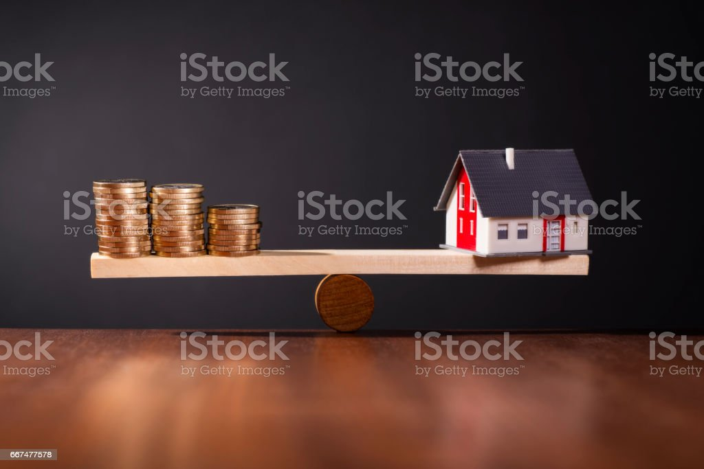 Solid construction finance stock photo
