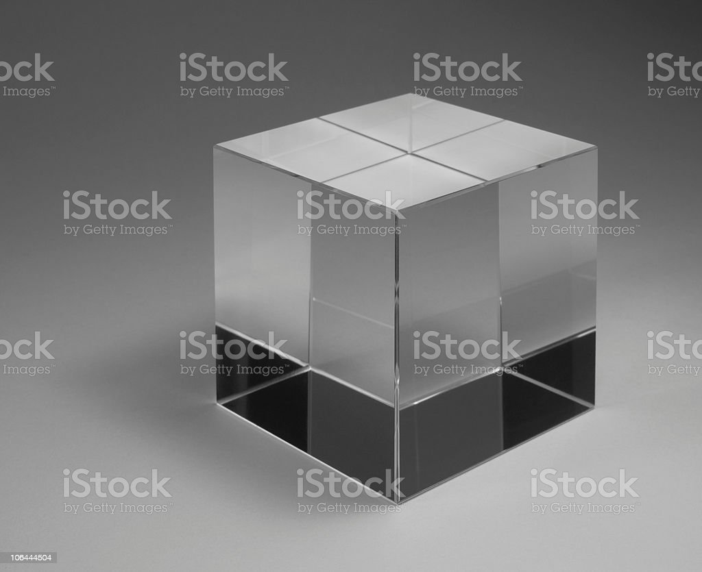 solid glass cube royalty-free stock photo