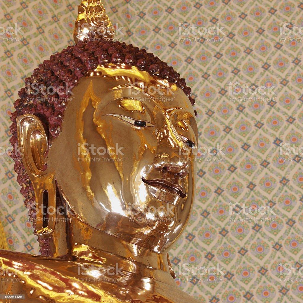 Solid gold Buddha at Wat Traimit, Bangkok, Thailand. royalty-free stock photo