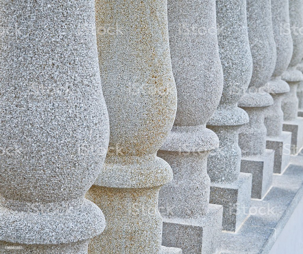 Solid granite columns royalty-free stock photo